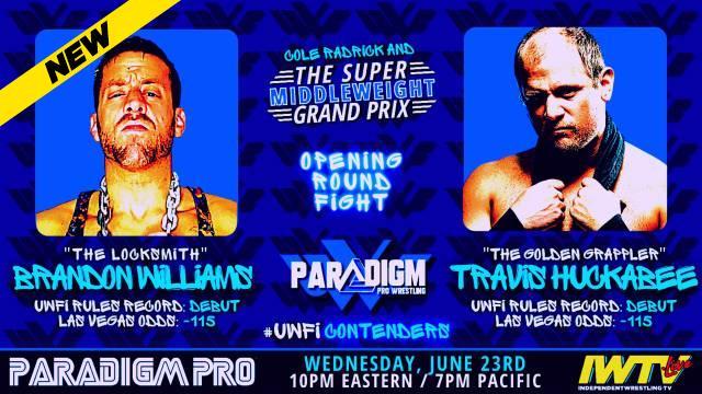 Paradigm Pro - UWFI Rules Super Middleweight Grand Prix Round One