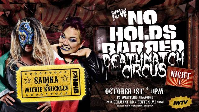 =LIVE: ICW No Holds Barred Deathmatch Circus Night 1